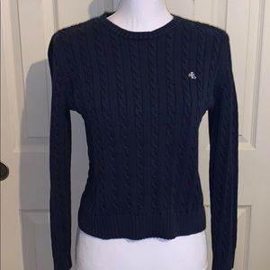 Gorgeous Ralph Lauren Navy Cable knit sweater